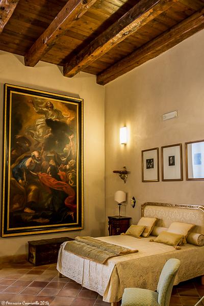 Castello di Corigliano: camera da letto del Barone
