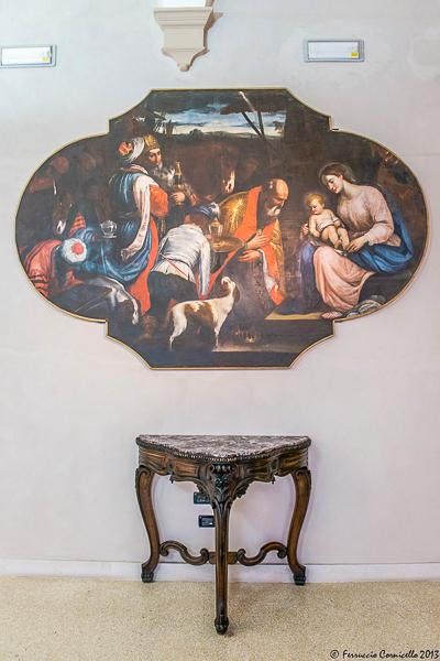 Castello di Corigliano: corridoio delle armi
