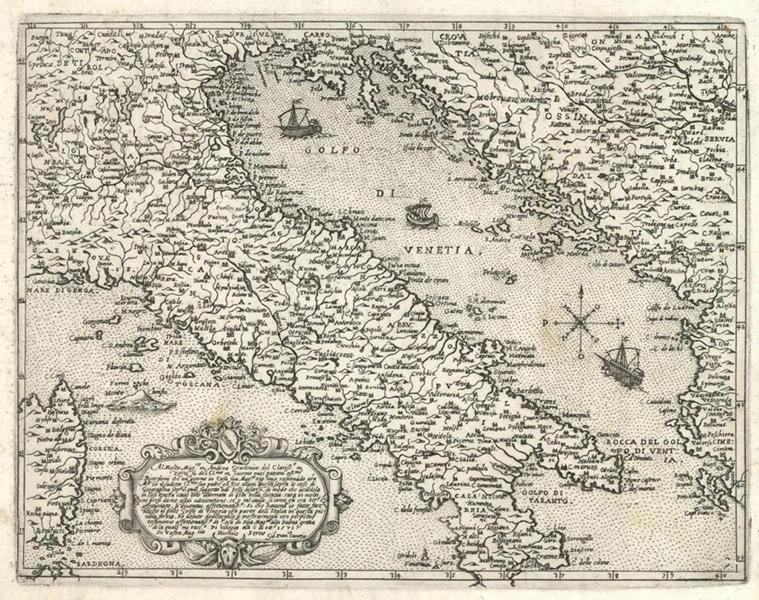 L'Italia di Mezzo. Alcune delle carte esposte