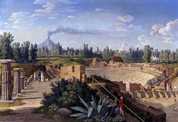 Hackert_Blick_auf_das_große_Theater_von_Pompeji_1793