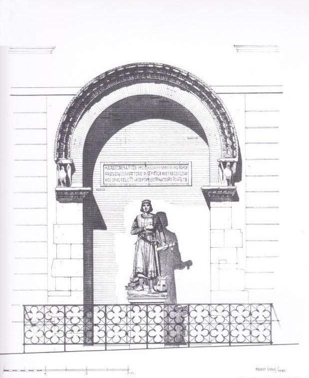 Mario Soro, Studio per un monumento a Federico II di Svevia in Foggia - 1981 (non realizzato)