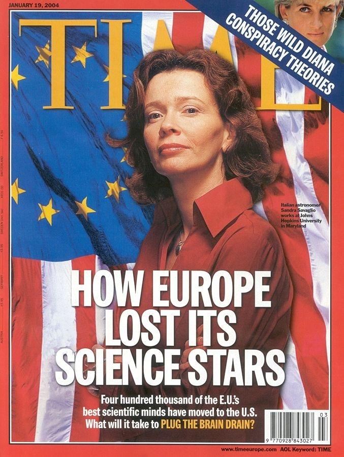 L'astrofisica calabrese Sandra Savaglio sulla copertina del settimanale TIME