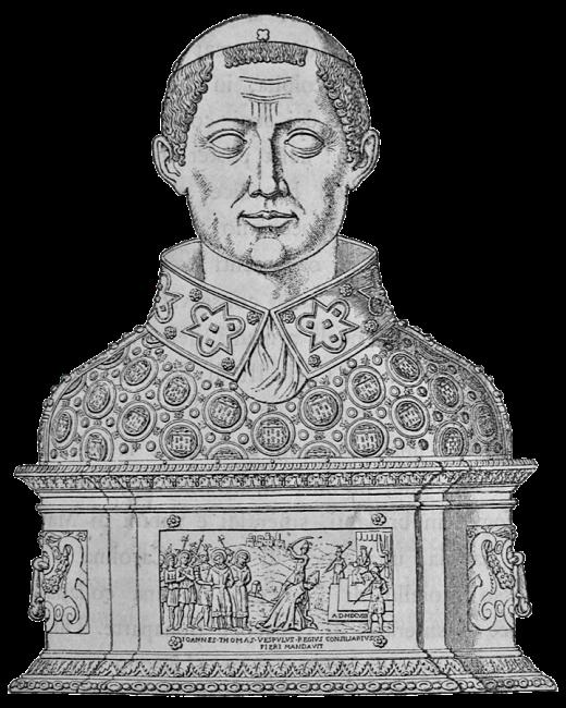 Busto di S. Gennaro in una incisione del 1860
