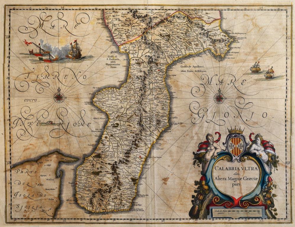 Willem Janszoon Blaeu (1571-1638) - Calabria Ultra