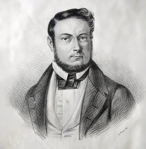 Cesare Malpica (1804-1848) in un'incisione d'epoca