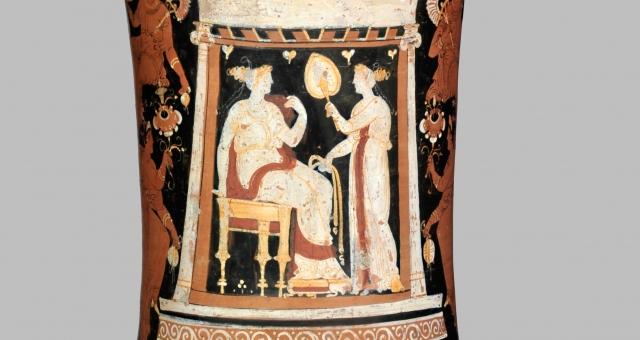 Part. del loutrophoros a figure rosse proveniente da Polignano a Mare, Museo Archeologico Nazionale, Napoli