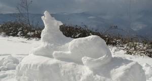 Racconta il tuo SUD | Il lupo della Sila: l'omaggio di Matteo Napoli scolpito nella neve