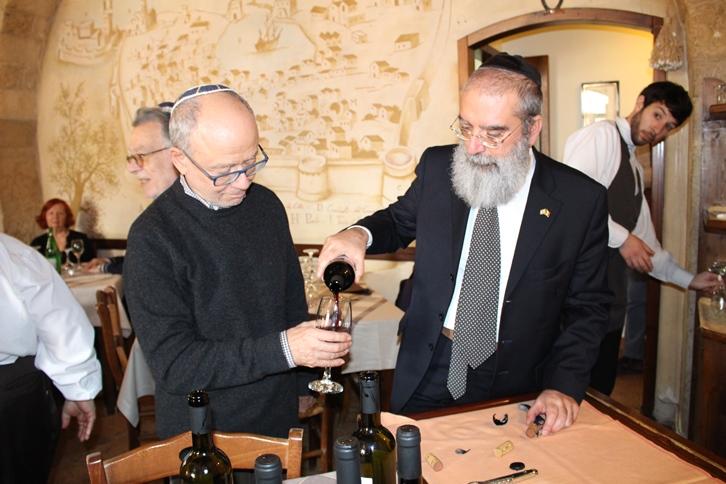 Cosimo Yehuda Pagliara (a destra) con il giornalista Piero Di Nepi - Ph. © Luciana Doronzo