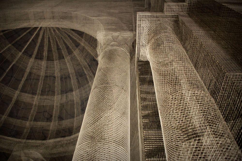 Dettagli architettonici della Basilica Paleocristiana di Edoardo Tresoldi a Siponto, Manfredonia (Fg) - Ph. © Giacomo Pepe