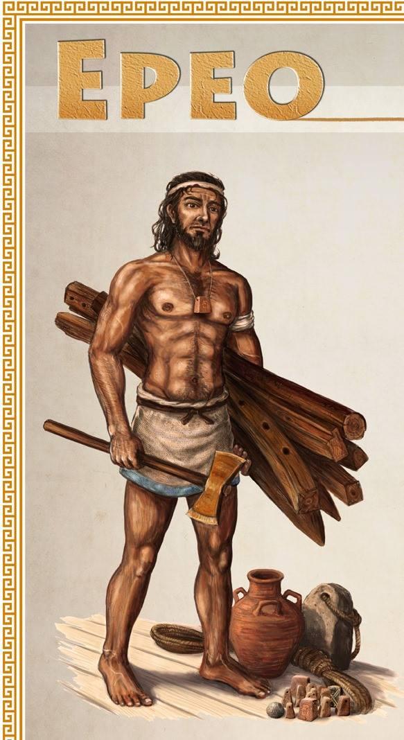 Epeo carpentiere, disegno dell'arch. Panaiotis Kruklidis - Ph. Itineraria Bruttii