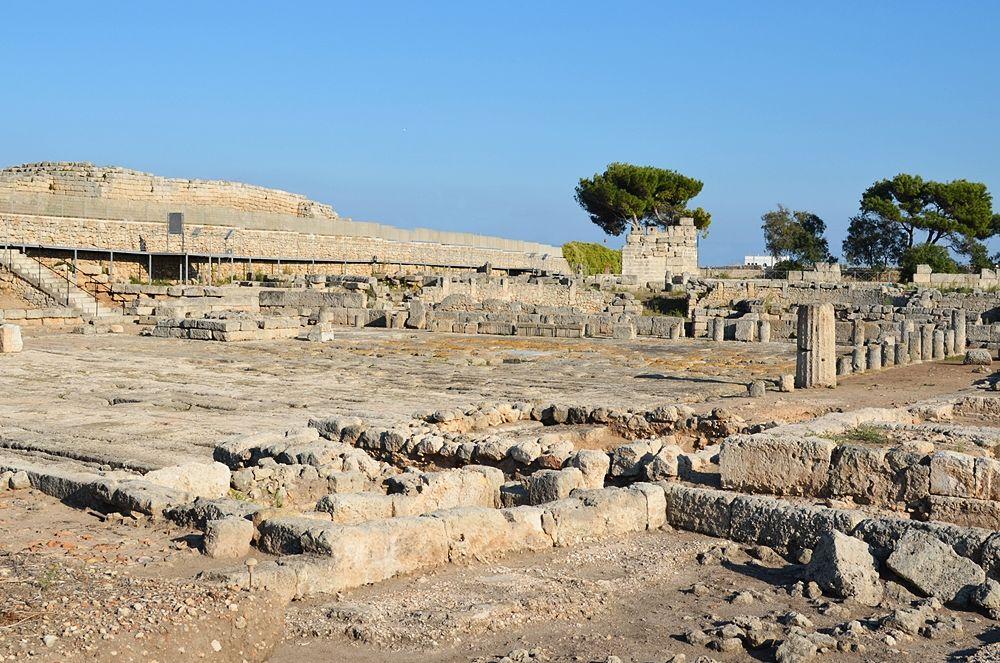 Scorcio dell'area archeologica di Egnazia, Savelletri di Fasano (Brindisi). La città fu fondata dai Messapi nel V sec. a.C