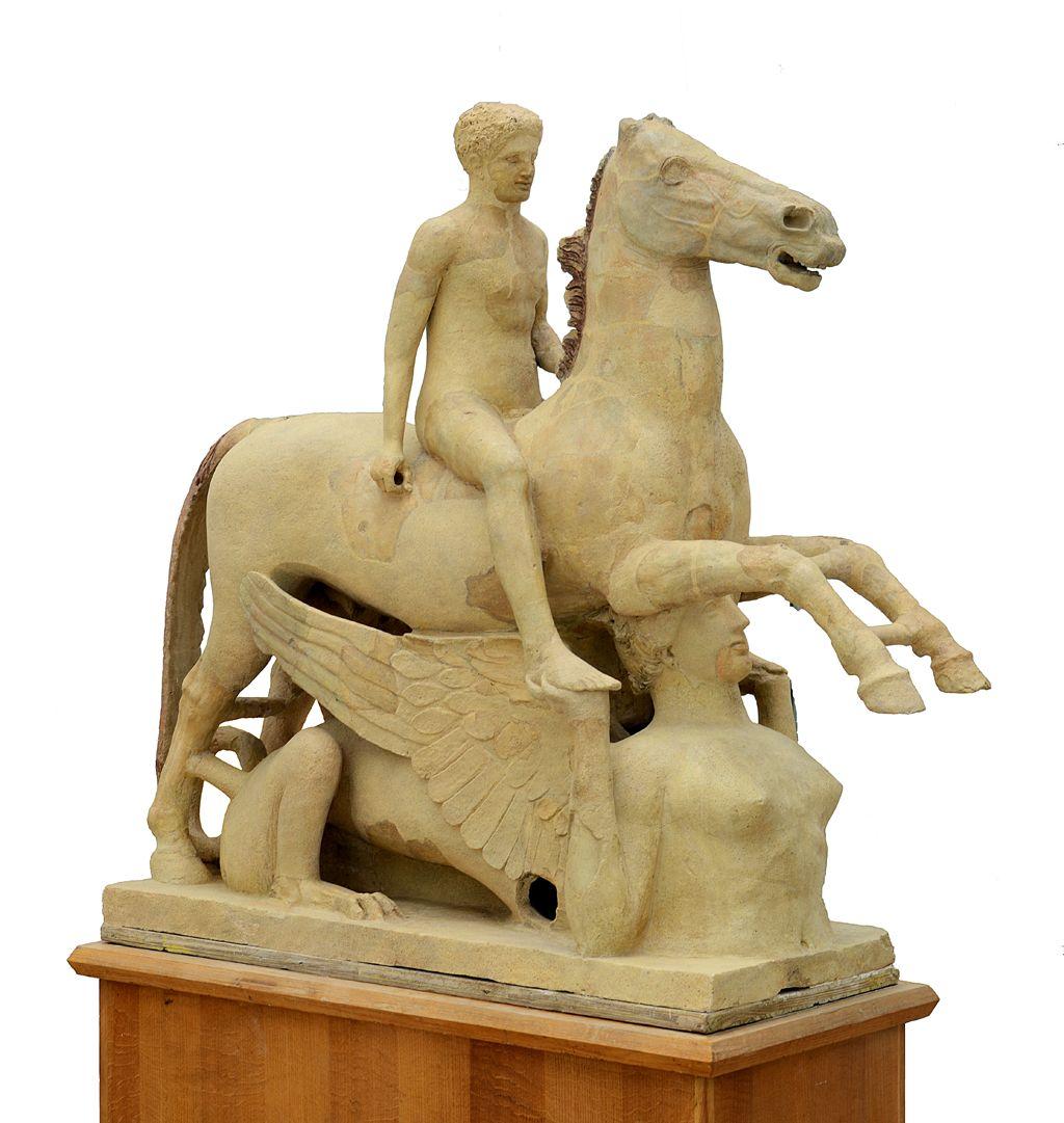 Il Cavaliere di Marafioti, terracotta, Locri, V sec. a.C. – Museo Archeologico Nazionale di Reggio Calabria