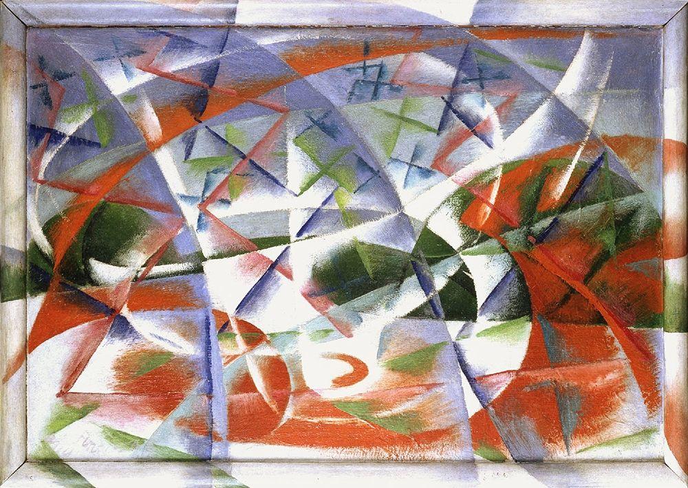 Giacomo Balla, Velocità astratta + rumore, 1913-14, Collezione Peggy Guggenheim, Venezia