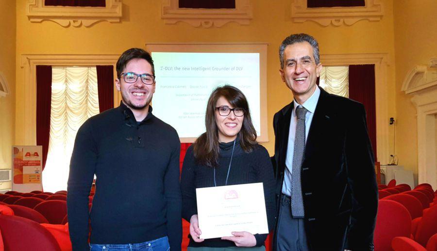 Da sinistra: i ricercatori Davide Fuscà, Jessica Zangari con il prof. Nicola Leone