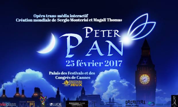 Peter Pan, l'opera transmediale di Sergio Monterisi in cartellone a Cannes (25 febbraio 2017)