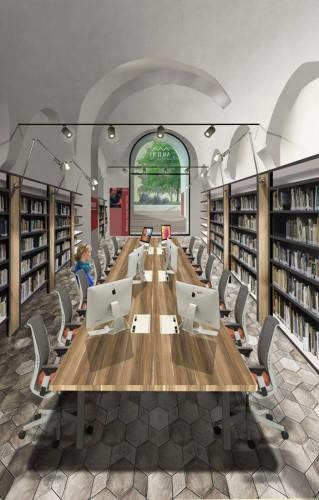 Mudit, rendering biblioteca