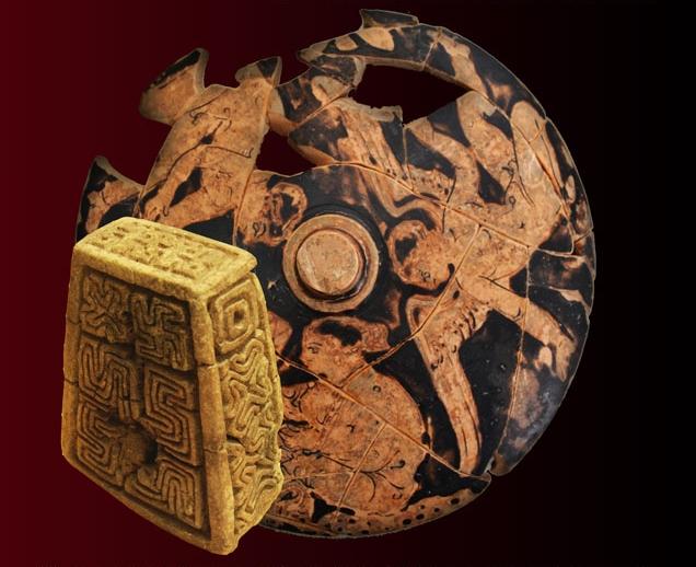 Alcuni dei reperti esposti nel Museo Archeologico Nazionale di Palazzo Nieddu del Rio