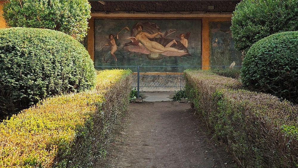 Affresco pompeiano nella Villa