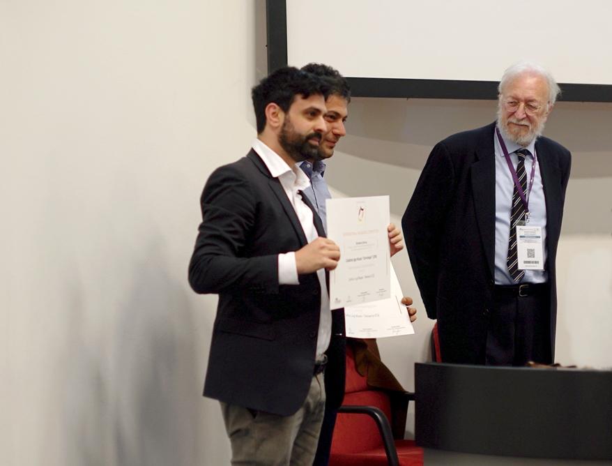Luigi Mazzei nel corso della premiazione, Vinitaly 2018, Verona