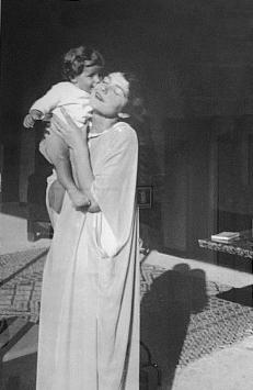Antonia Fiermonte con la figlia Anna nel 1936