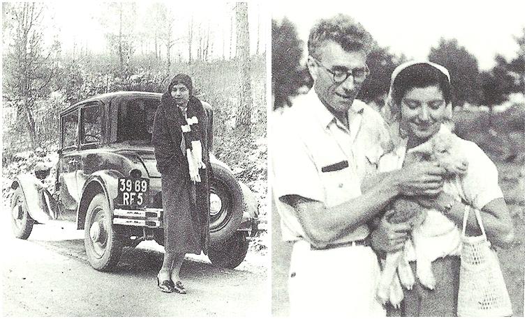 Antonia Fiermonte:a sin. negli anni '30; a destra ai tempi del matrimonio con Jacques Zwobada