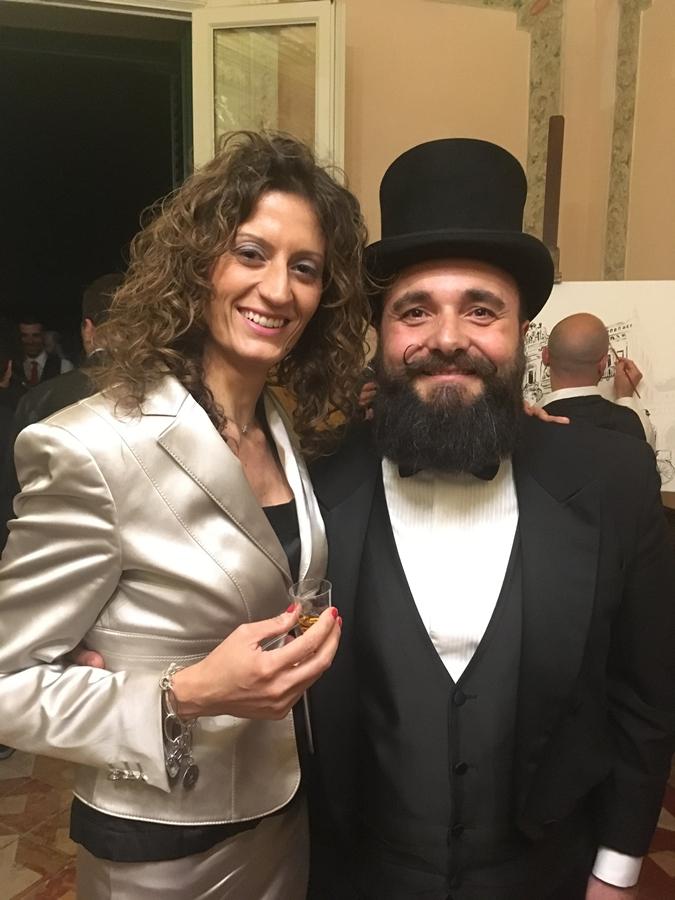 """Ivano Trombino e la Direttrice del Museo """"Consentia Itinera"""" Anna Cipparrone"""