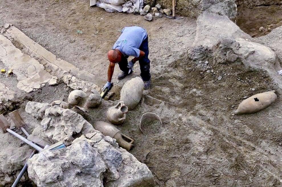 Gli scavi nella Regio V - Ph. Soprintendenza di Pompei