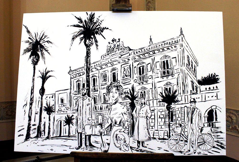 Villa Rendano nello stile grafico del Vecchio Magazzino Doganale - Ph. © Gianni Termine