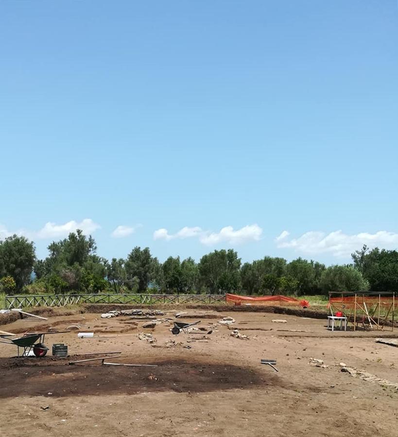 Scorcio dell'area di scavo in località Calderazzo nel Parco Archeologico di Medma, Rosarno (RC) - Image by SABAP-RC