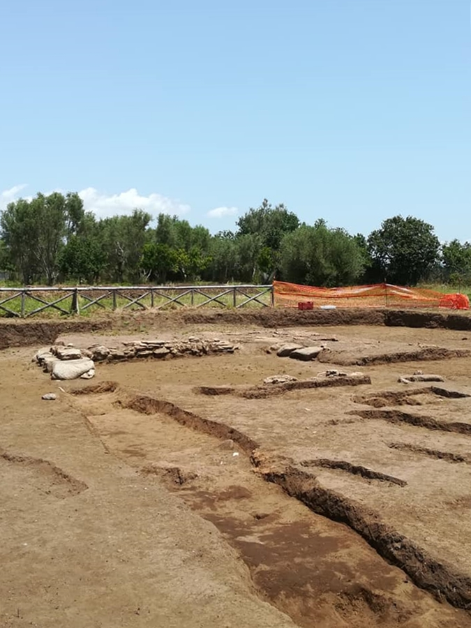 Scorcio dell'area di scavo in località Calderazzo nel Parco Archeologico di Medma, Rosarno (RC)