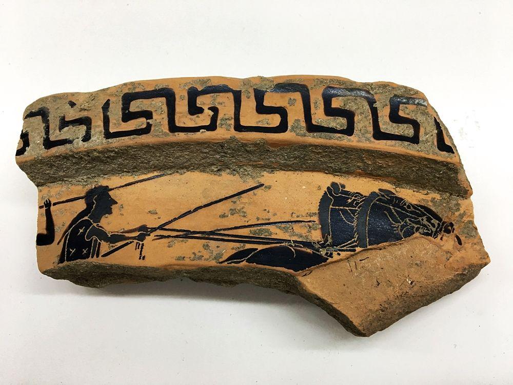Frammento di vaso ateniese del VI sec. a.C., Parco Archeologico di Paestum