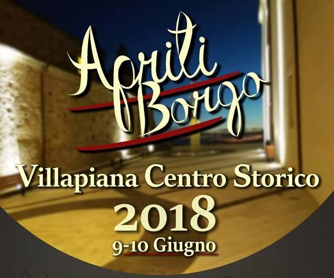 Apriti Borgo (Villapiana, 9-10 giugno 2018)