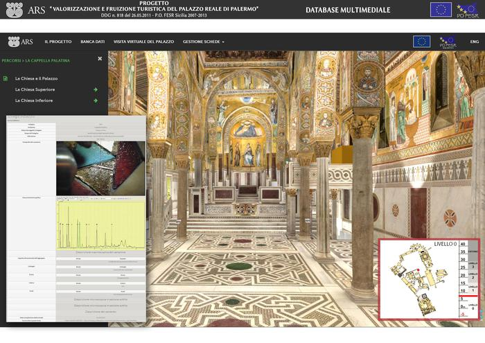 Un'immagine dal data base del Palazzo Reale di Palermo