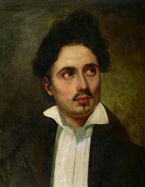 Eugène Delacroix (attr.), Ritratto giovanile di Alexandre Dumas padre