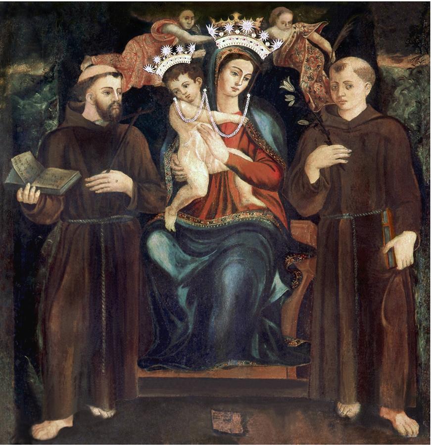 effigie della Madonna della Consolazione, eseguita nel 1547 dal pittore locale Niccolò Andrea Caprioli
