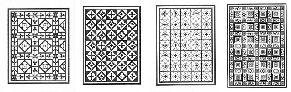 Ricostruzione grafica di alcuni dei mosaici a cura dell'archeologo Carmelo G. Malacrino ©