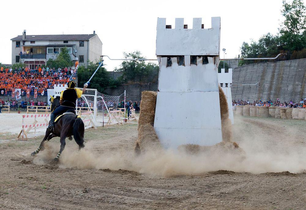 Il cavaliere Gianluca Mendicino, detto Skanderbeg (rione Giudecca), Palio del Principe 2018, Bisignano (Cs) - Ph. © Francesco Cariati