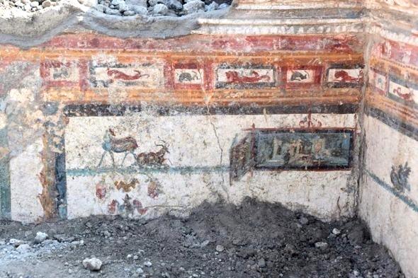 Cubicolo affrescato ritrovato lungo la Via di Vesuvio - Image by Parco Archeologico di Pompei