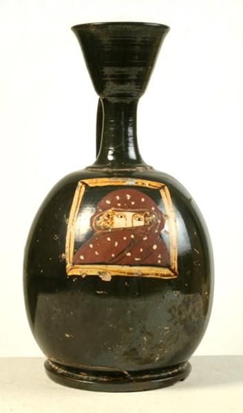 Lekythos sovradipinto, IV sec. a.C., Museo Archeologico Nazionale di Taranto