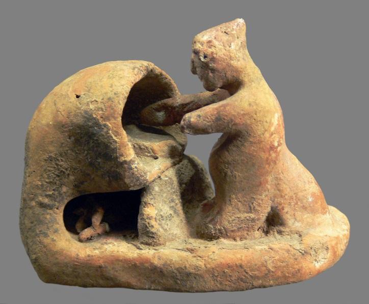 Miniatura greca con scena di panificio, terracotta, VI sec. a.C., Kunsthistorisches Museum, Antikensammlung, Vienna
