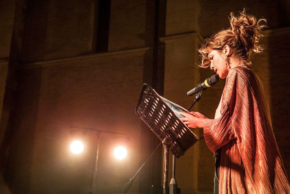 L'attrice siciliana Isabella Ragonese al XVI° Festival della Letteratura Mediterranea, Lucera (Foggia)