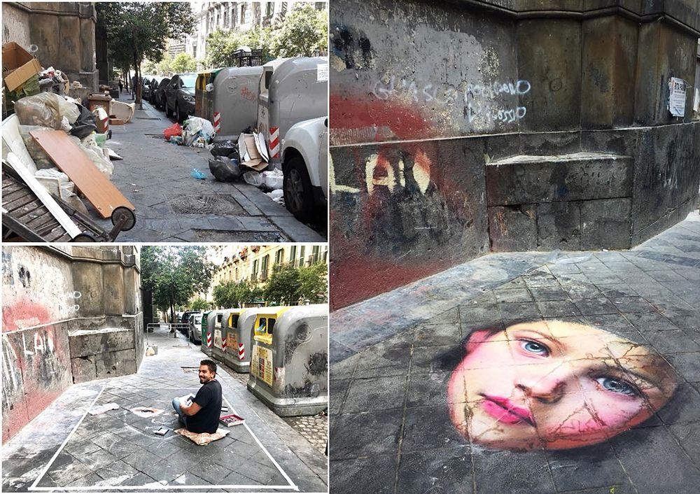 L'opera di Valiante in lavorazione in via Duomo a Napoli