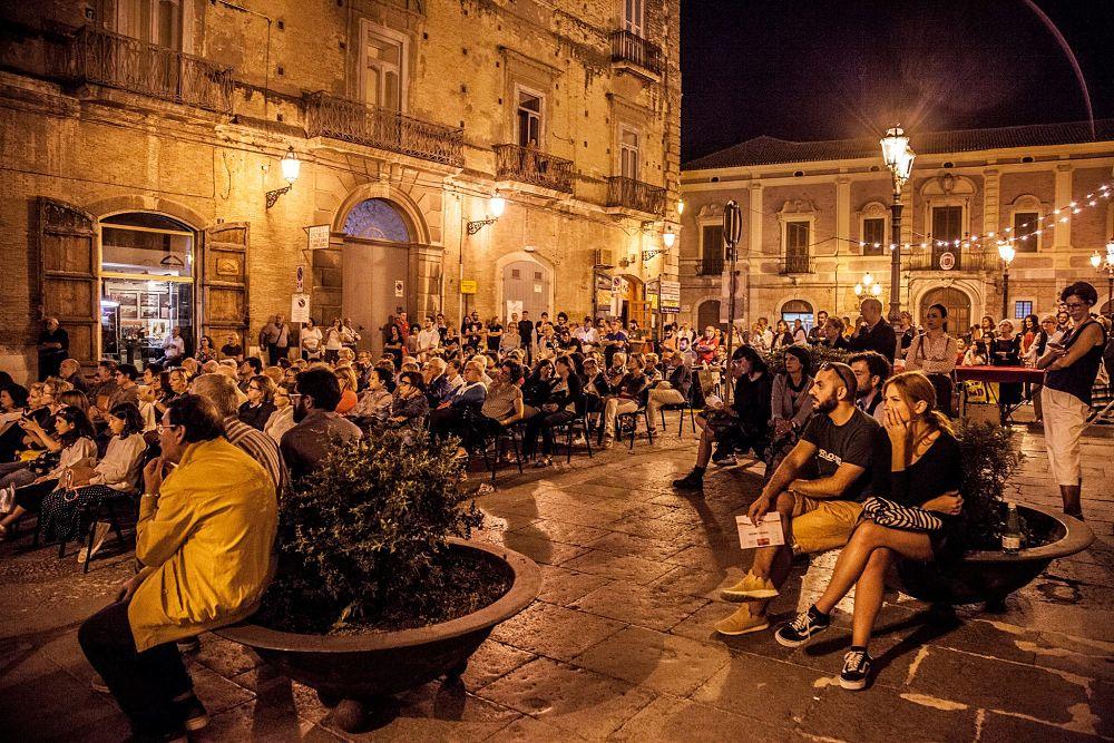 Momenti del Festival in Piazza Duomo, a Lucera (Foggia)