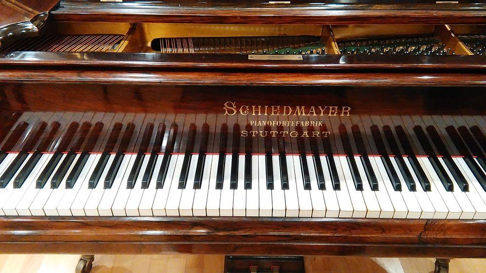 Particolare del pianoforte Schiedmayer appartenuto a Nino Rota, Conservatorio Piccinni, Bari © Famedisud
