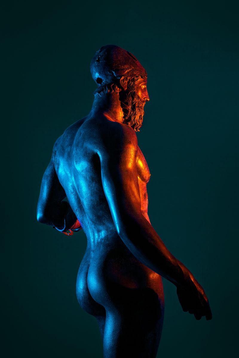 Il Bronzo di Riace B fotografato da Giuseppe Lo Schiavo al Museo Archeologico Nazionale di Reggio Calabria © Giuseppe Lo Schiavo