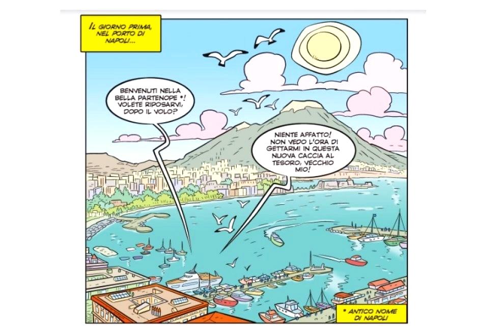 """Una delle vignette di """"Zio Paperone e i tesori del grande blu – La mappa di Paperonius"""""""