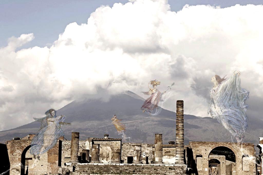 """""""Fantasmi a Pompei"""": una delle opere in mostra al Museo Archeologico Nazionale di Napoli"""