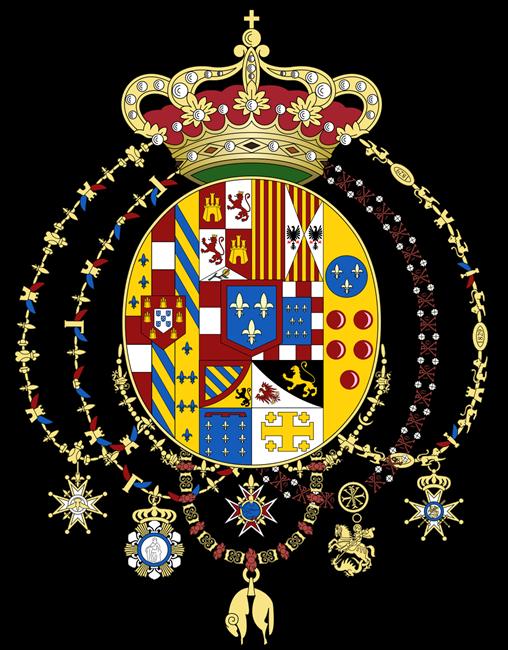 Stemma della casa reale Borbone-Due Sicilie introdotto con decreto del 21 dicembre 1816