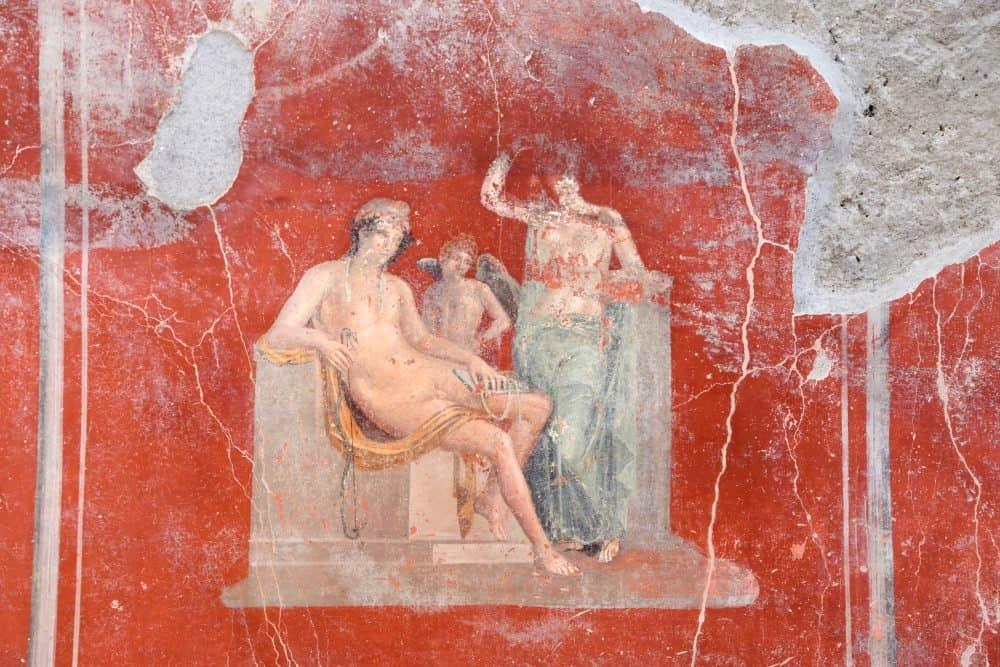 Venere, Adone e Eros, affresco dalla Casa con Giardino, Pompei
