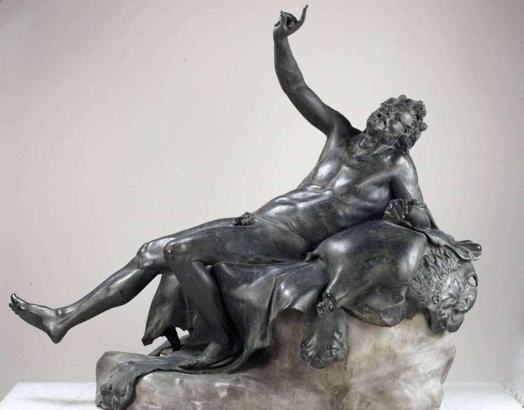 Satiro ebbro, bronzo, dalla Villa dei Papiri, Ercolano - Museo Archeologico Nazionale, Napoli